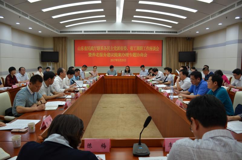 民盟省委领导参加省民政厅对口联系座谈会暨养老建议、提案办理专题协商会